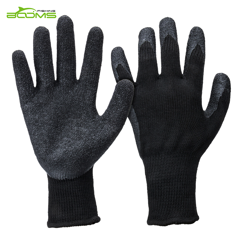 Booms Fishing TH1 Gloves Textured Latex Anti-Slip for Landing Fish