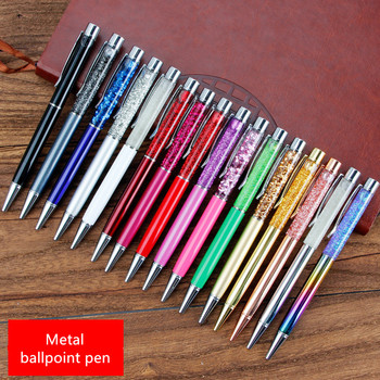 Creative crystal ball pen crystal diamond metal ball pen metal ball pen student signature pen Office school stationery gift new crystal ballpoint pen roller ball pen instead of fountain pen pencil box and bag brand gift stationery office school
