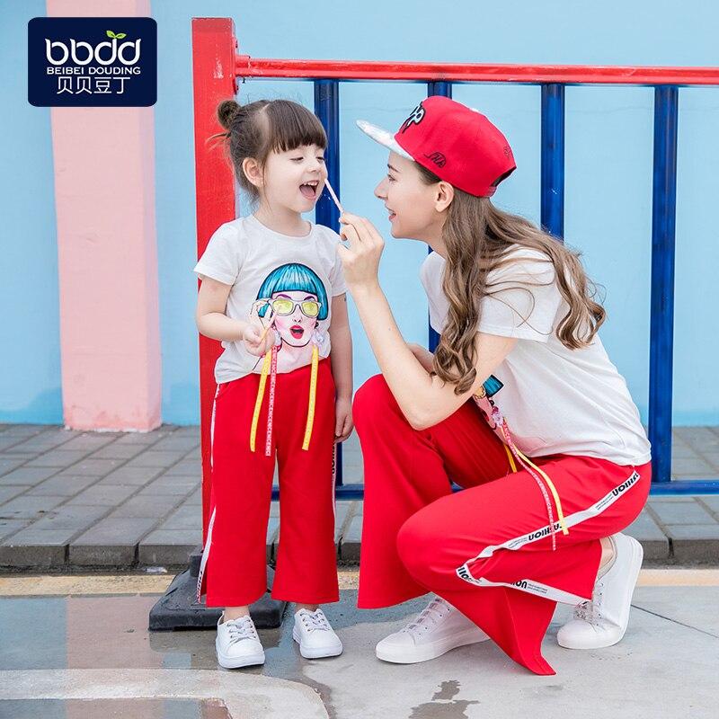 Super style étranger mère-fille tenue filles été 2019 nouvelle mode version coréenne de net rouge bébé fille costume été - 6