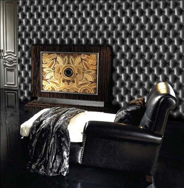 Nouveau papier peint mode 3d noir imprime papiers muraux chambre luxe doux TV toile de fond classique vintage salon étanche