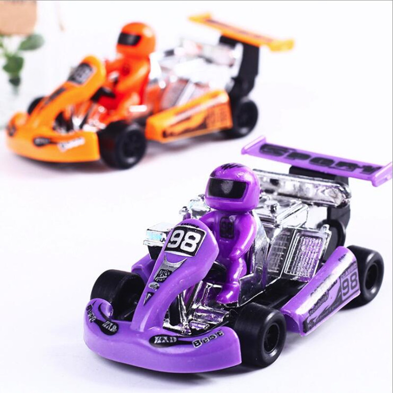 2pcs Cute Mini Baby Kids Running Car Toy Inertia Racing Car Model Pull Back Car