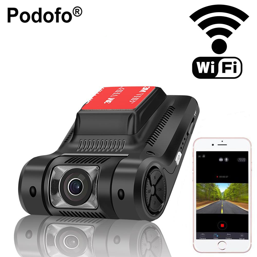 Podofo New WiFi Car DVR Night Vision Digital Video Original Novatek 96658 Mini Camera Registrator Dash Cam Full HD 1080P WDR