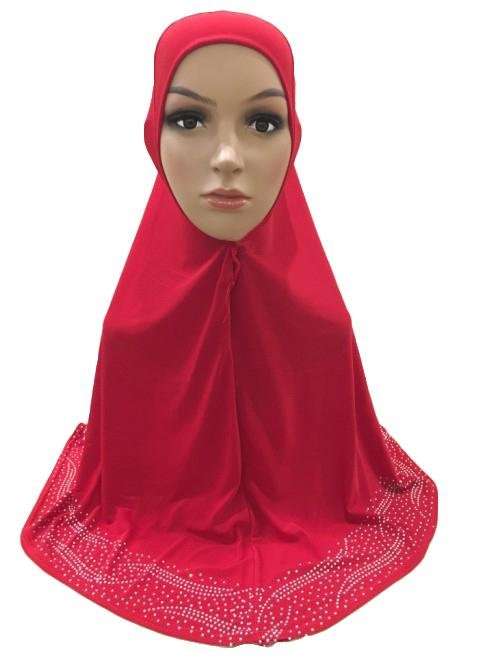 One Piece  Women Hijab Girls Scarf Muslim islamic Headscarf Khimar Prayer