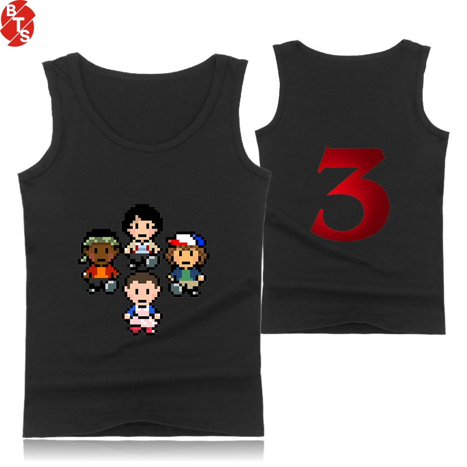 Stranger things 3 Summer Cool   Tank     Tops   Women/Men Sleeveless Fashion Printed   Tops   2018 Hot Sale Casual Streetwear Clothes
