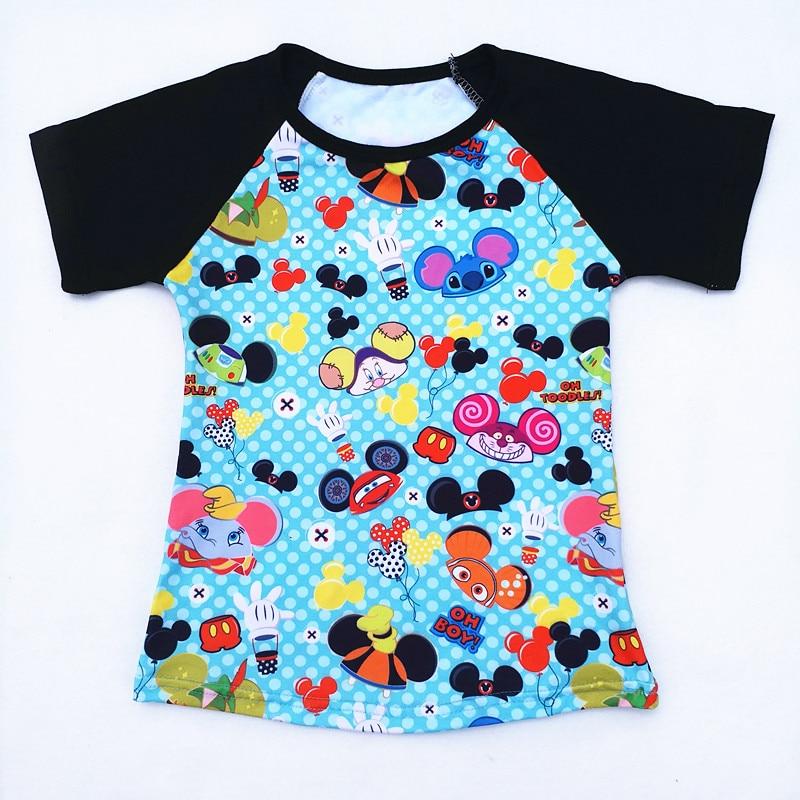 Raglan Tshirt Milk Mickey-Head Baby-Boy Clothing Printed Cartoon Summer Silk Boutique