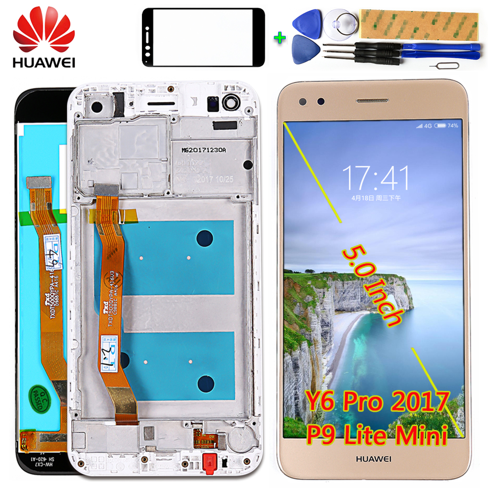 Huawei P9 Lite Mini 5.0 Inch LCD Display Touch Screen For Huawei Y6 Pro 2017 Digitizer Assembly Frame SLA-L02 L22 TL00 Free Tool