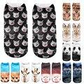 Лучшие продажи! 3D Печатных прекрасный Животных носки женщины лодыжки длина прохладный носки уникальный стиль calcetines mujer Кол-Во Продаж #48