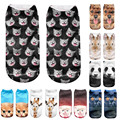 Top sale! 3D Printed lovely Animal socks women ankle length cool socks unique style calcetines mujer Bestselling #48