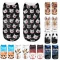 Top venda! 3D Impresso encantador Animais meias calcetines mujer das mulheres calças de comprimento no tornozelo meias legais estilo único Vendidos #48
