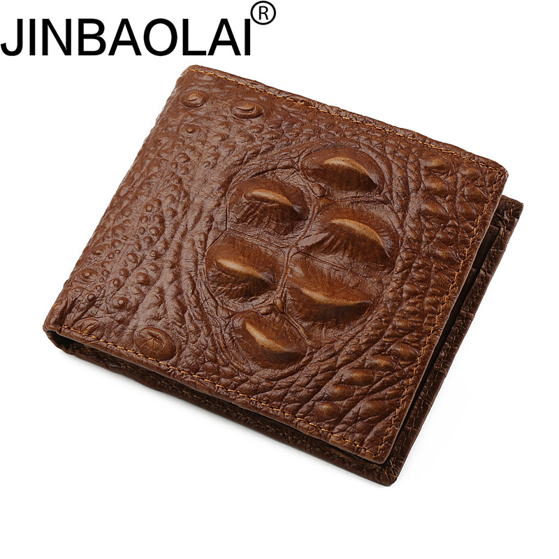 Real Cowhide Fashion Men Genuine Leather Wallet Male Purse Coin Pocket Short Cuzdan Vallet Perse Walet Money Bag Card Holder