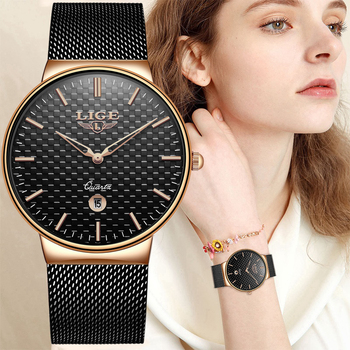LIGE Fashion Luxury Brand Women Quartz Watch
