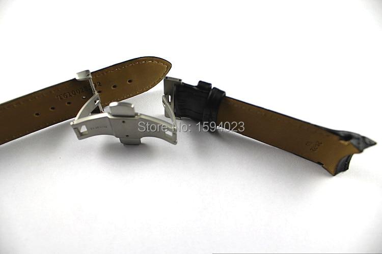 24mm (Toka 22mm) T035627 T035614A Yüksek Kalite Gümüş Kelebek - Saat Aksesuarları - Fotoğraf 6