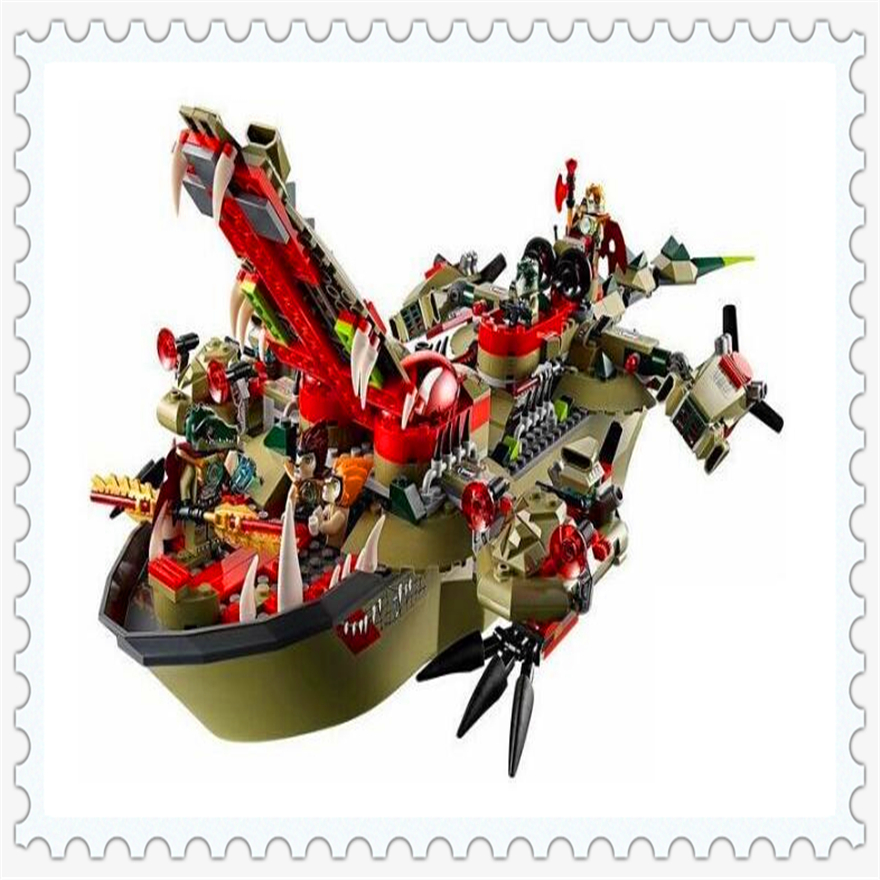 620Pcs Craggers Command Ship Model Building Block Toys Enlighten 10061 Gift For Children Compatible Legoe 70006 decool 3114 city creator 3in1 vehicle transporter building block 264pcs diy educational toys for children compatible legoe