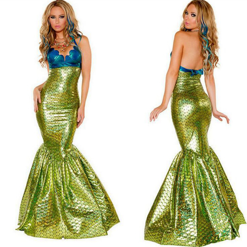 New Green Mermaid Sexy Mermaid Dress Sea Maid Fairy Tales Clothes Cosplay Trendy Halloween Costumes Fetishu0026Costumes-in Holidays Costumes from Novelty ...  sc 1 st  AliExpress.com & New Green Mermaid Sexy Mermaid Dress Sea Maid Fairy Tales Clothes ...