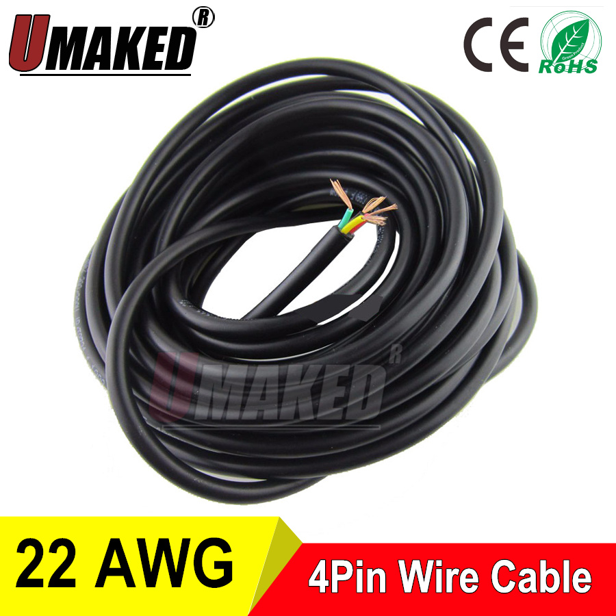 1 Meters Copper Electrical Wire 4 Pin 22 Awg Anti Interference Buy Power Cablervvp Cable Flexible 10m 4pins Polyvinyl Chloride Sheathed Pins 403 Rvv 300 300v Square