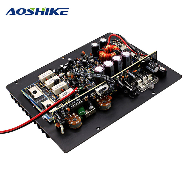 Best Offers Aoshike 12V 1000W Powerful Bass Subwoofer Car Audio High Power Amplifier Amp Board Thermal Overload Protect Powerful