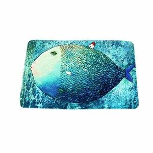 Gruba ryba dywan antypoślizgowe maty drzwi wejściowe dziecko salon sypialnia dywan łazienkowy wycieraczka niebieski morze dla dzieci dekoracji pokoju
