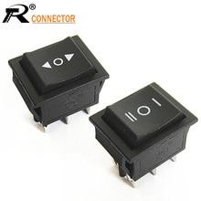 цена на 2PCS 2 Way Self Reset Toggle Switch 2/3 Positions Copper 6 Feet Power Boat Rocker Switch Panel 31x25mm KCD4 16A 250V ~20A 125V
