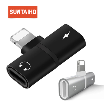 Suntaiho for iphone X lightning adapter to 3.5mm jack for iphone 8 plus Charger Audio mini Adapter for iphone 7 Listenning Music iPhone 8