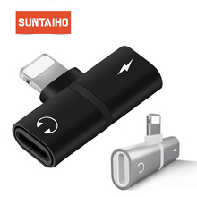 Suntaiho for iphone lightning adapter to 3.5mm jack for iphone 8 plus Charger Audio mini Adapter for iphone 7 Listenning Music