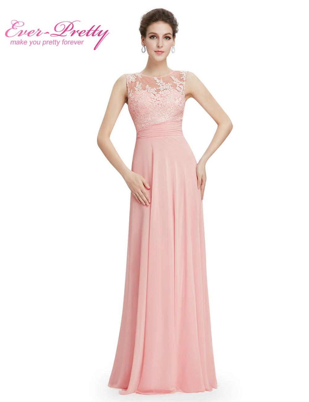 Popular long bridesmaid dress chiffon buy cheap long bridesmaid elegant light pink chiffon long bridesmaid dresses ep08760 2017 vestido formal dress floor length sleeveless bridesmaid ombrellifo Images