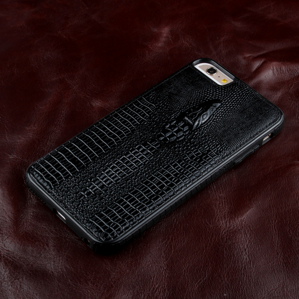 szHAIyu For 6 Case -- New 3D Crocodile Head Pattern PU Leather Phone Case For iPhone 6S Back Cover Shell Card Holder