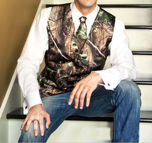 New Fashion Camo Groom Vest Formal Tuxedo Vest For Wedding Custom Made  Mens Wedding Vests