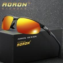 AORON 2019 Men's Polarized Sunglasses Aluminum Magnesium Frame Car Driving Sun G