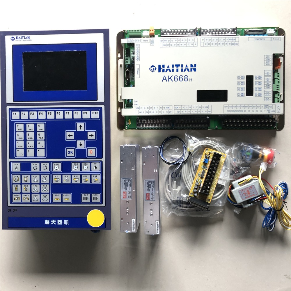 HAITIAN AK668 With HMI Q7 Panel , Techmation Control System Full Set  PLC For Plastic Injection Molding Machine