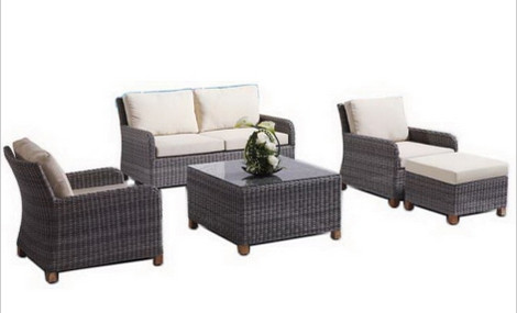 Sigma indoor outdoor furniture synthetic rattan set home living room ...