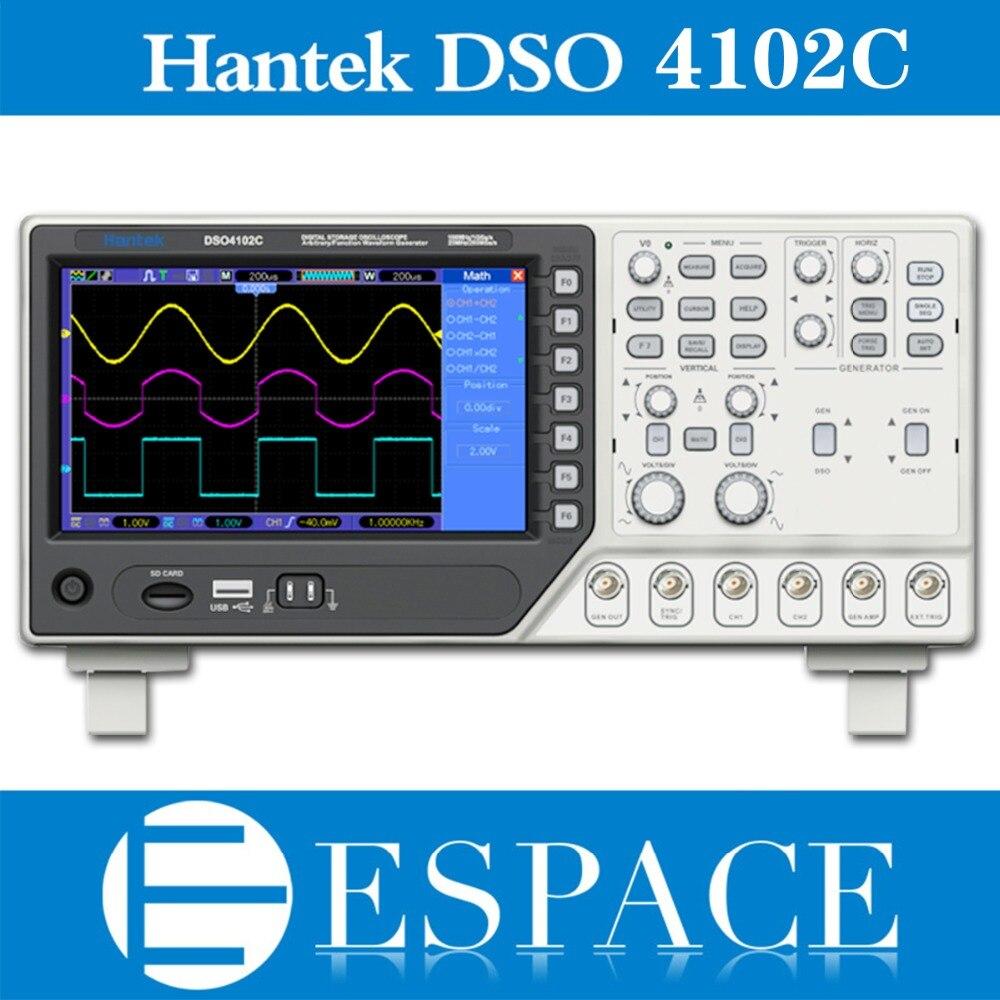 Hantek DSO4102C 2 Channel Digital Oscilloscope 1 Channel Arbitrary Function Waveform Generator
