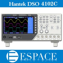 Hantek DSO4102C 2 قناة ملتقط الذبذبات الرقمي 1 CH التعسفي/وظيفة مولد الموجي