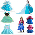2016 Hot selling Girl Princess Dress Vestidos Infantis Congelados Anna Elsa Fever Dress Diamond party  Costume Dress