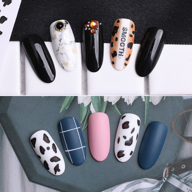 2019 New Fashion Leopard Manicure Sticker 3D Stereo Nail Sticker Matte Matte Tiger Manicure Sticker Hot Sale
