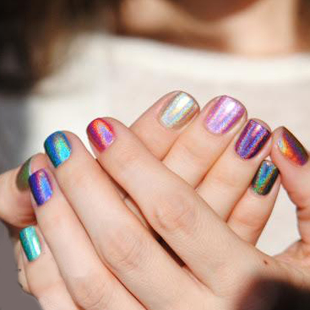 Candy Lover Holographic Halo gel nail polish for New Fashion soak ...