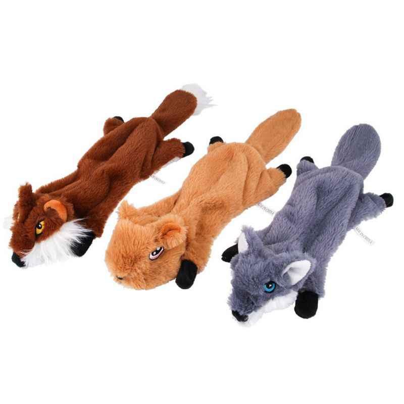 Squeak Cucciolo di Cane di Peluche Giocattolo Da Masticare Suono Molare Morso Rettifica Forma di Animale per Pet Morso-resistente Molari Dentizione Giocattolo prodotto dell'animale domestico