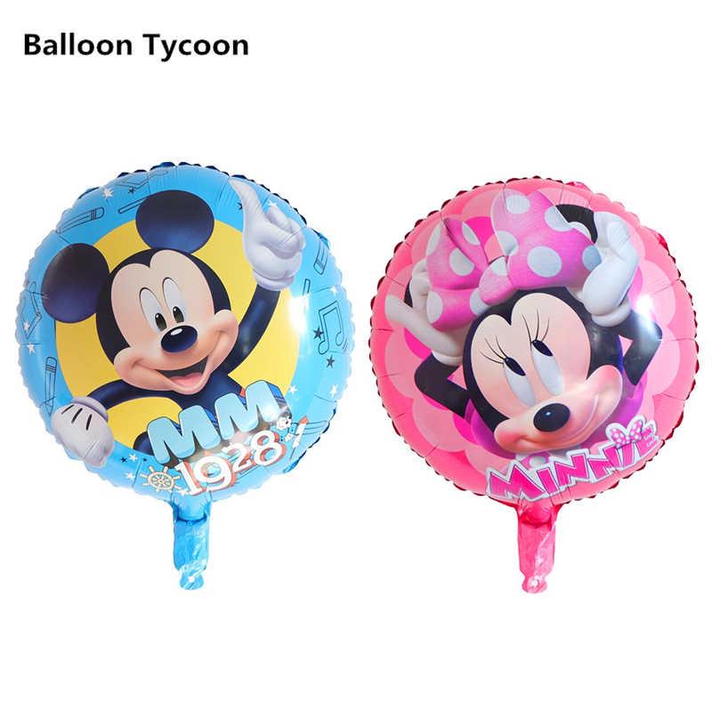O Magnata Dos Desenhos Animados de Alumínio balão de Hélio Balões de Festa Decoração Série de Desenho Animado Mickey Minnie Balões Feliz Aniversário Atacado