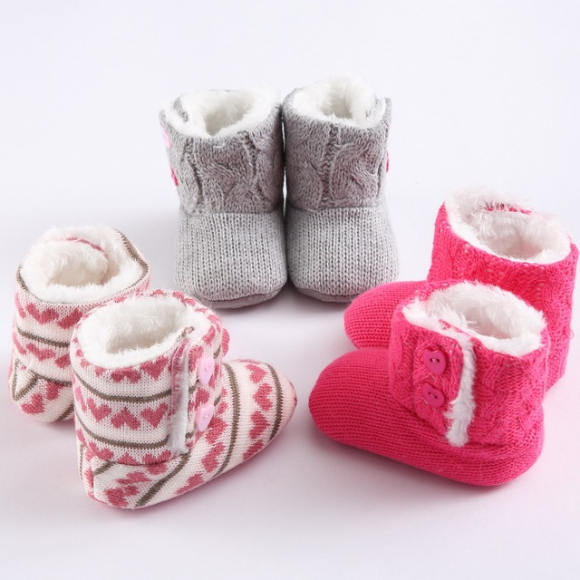 winter Soft Sole Girl  Baby Shoes Cotton First Walkers Fashion Kids Toddler boots Pre Walker Shoes