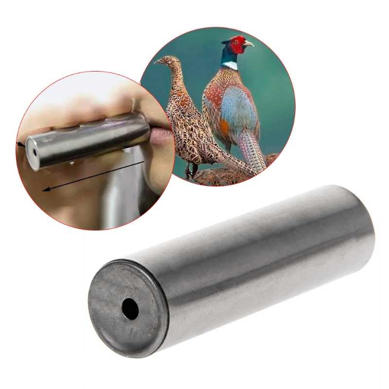 Drop Ship Hunting Whistle Outdoor Attractive Birds Shooting Stainless Steel Pheasant Gear