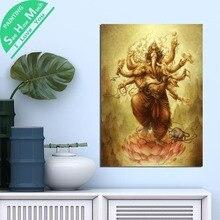 1 Шт. Брахма Слон Голова Будды HD Печатных Холст Wall Art Плакаты и Принты Плакат Живопись