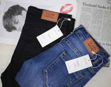 2018 Women Jeans Stretch Skinny Pencil Pants Black Casual Denim Female Jean