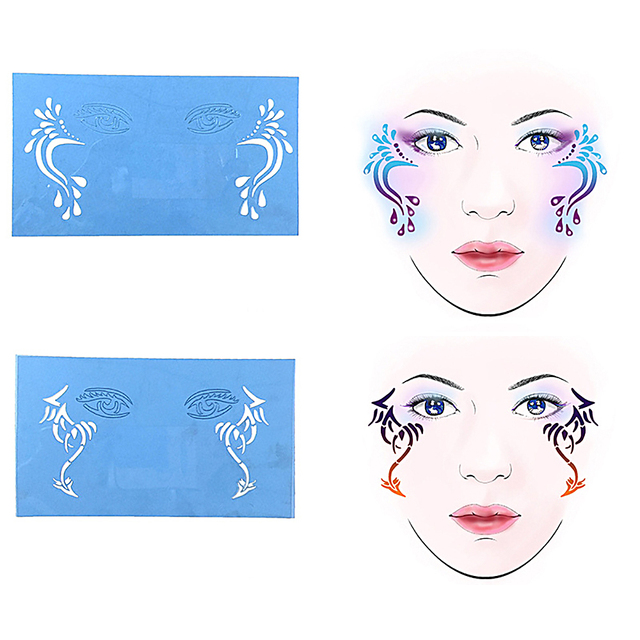 6Sets Reusable Face Paint Templates For Airbrush Makeup Painting ...