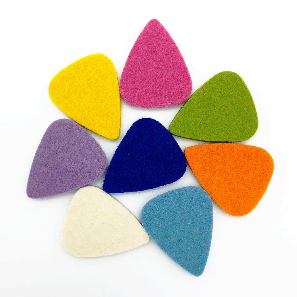 SLOZZ Soft Felt Ukulele Pick Colorful Mediator Guitar Plectrum For Concert Soprano Tenor Ukulele Accessories 21 23 26