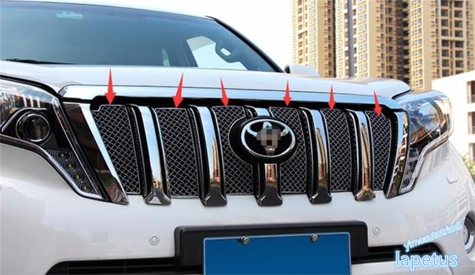 Lapetus For Toyota Land Cruiser Prado FJ150 2014 2015 2016 2017 Stainless Steel Front Grille Racing Grills Mesh Cover Trim|racing grill|grill mesh|grill front - title=