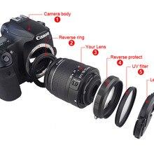 Камера макрообъектив Обратный адаптер Набор для цифровой однообъективной зеркальной камеры Canon EOS 70D 80D 700D 750D 800D 1200D 100D 200D 5D2 5diii 5DIV 6D Mark II 77D 7D DSLR