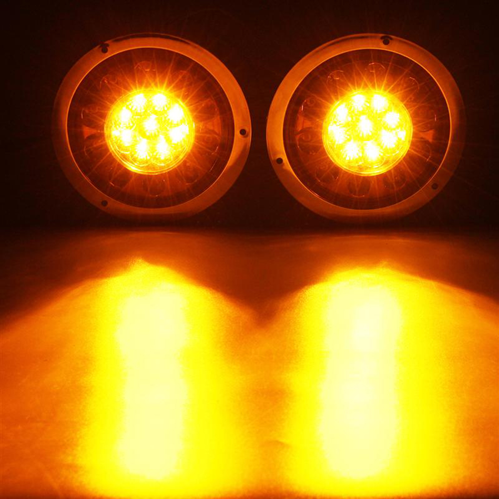 1Pair 19LED Chrome Tai Lights Stop Turn Signal Reverse Light for 12V 24V Car Truck Trailer in Car Light Assembly from Automobiles Motorcycles