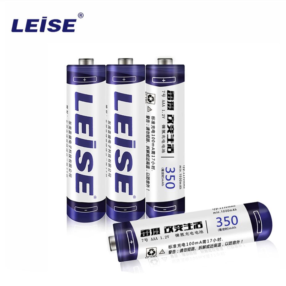 Leise 1.2v <font><b>AAA</b></font> rechargeable 350mah lots <font><b>aaa</b></font> nimh 3A Battery Rechargeable Battery accumulator battery <font><b>AAA</b></font> For Home Use image