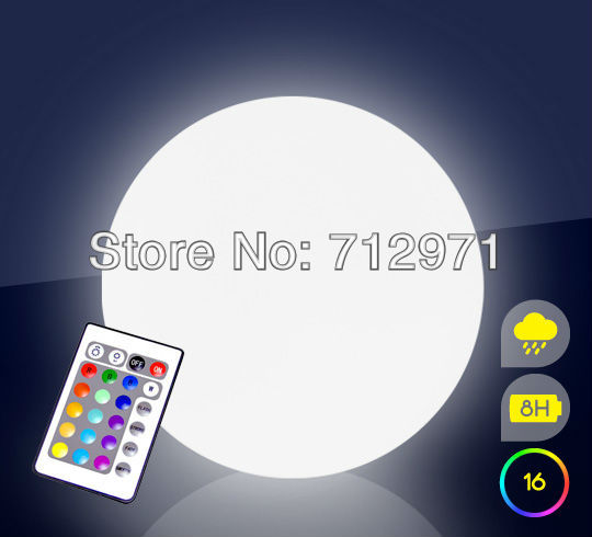 ФОТО PE material, waterproof LED ball used in pool garden decoration