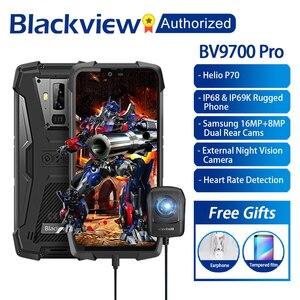 """Image 1 - Blackview BV9700 プロ IP68/IP69K 頑丈な携帯エリオ P70 オクタコア 6 ギガバイトの RAM 128 ギガバイト ROM 5.84"""" ips の Android 9.0 4 グラム顔 Id"""