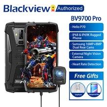 """Blackview BV9700 Pro IP68/IP69K sağlam cep Helio P70 Octa çekirdek 6GB RAM 128GB ROM 5.84"""" IPS Android 9.0 Smartphone 4G yüz kimliği"""